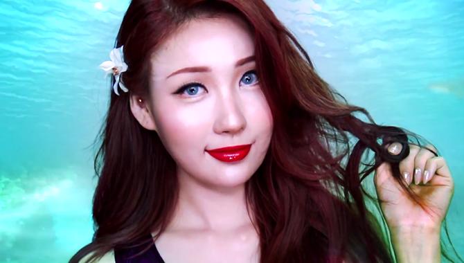 韩美妆大神 仿妆 化身小美人鱼